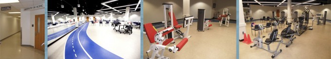 HPC Health Performance Center exercise equipment and track